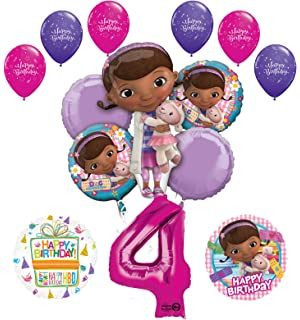 Doc McStuffins 4th Birthday Party Supplies And Balloon Bouquet Decorations