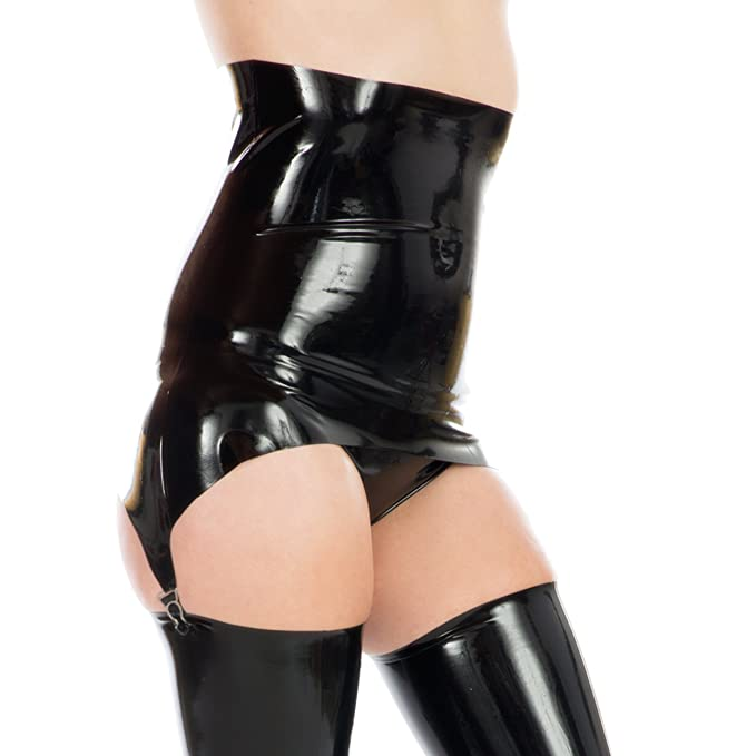Clothing, Shoes & Accessories Intimates & Sleep Latex Rubber Deep Suspender Belt Red Numerous In Variety