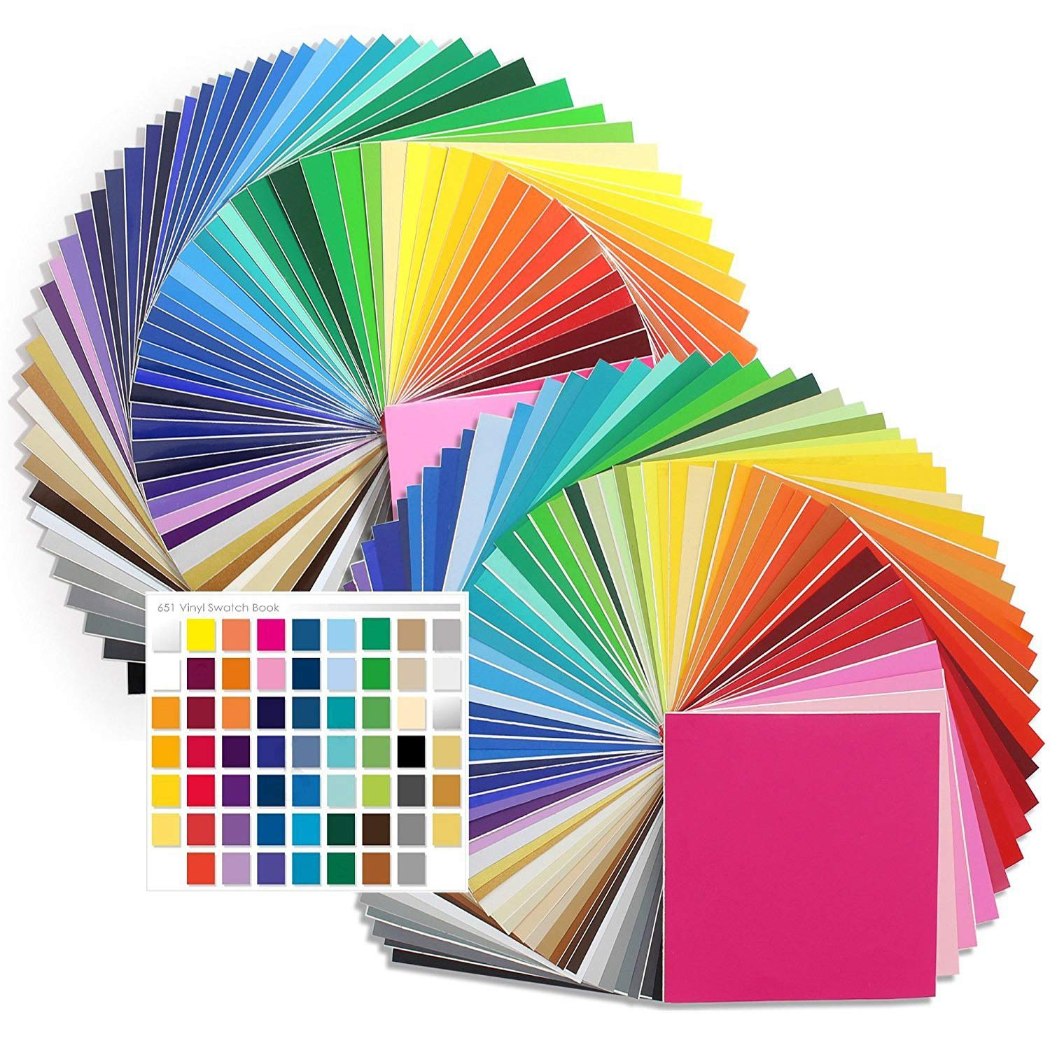 Oracal Vinyl Starter Kit - 129 Assorted Colors! 651 Glossy Vinyl and 631 Matte Vinyl with 651 Swatch Book