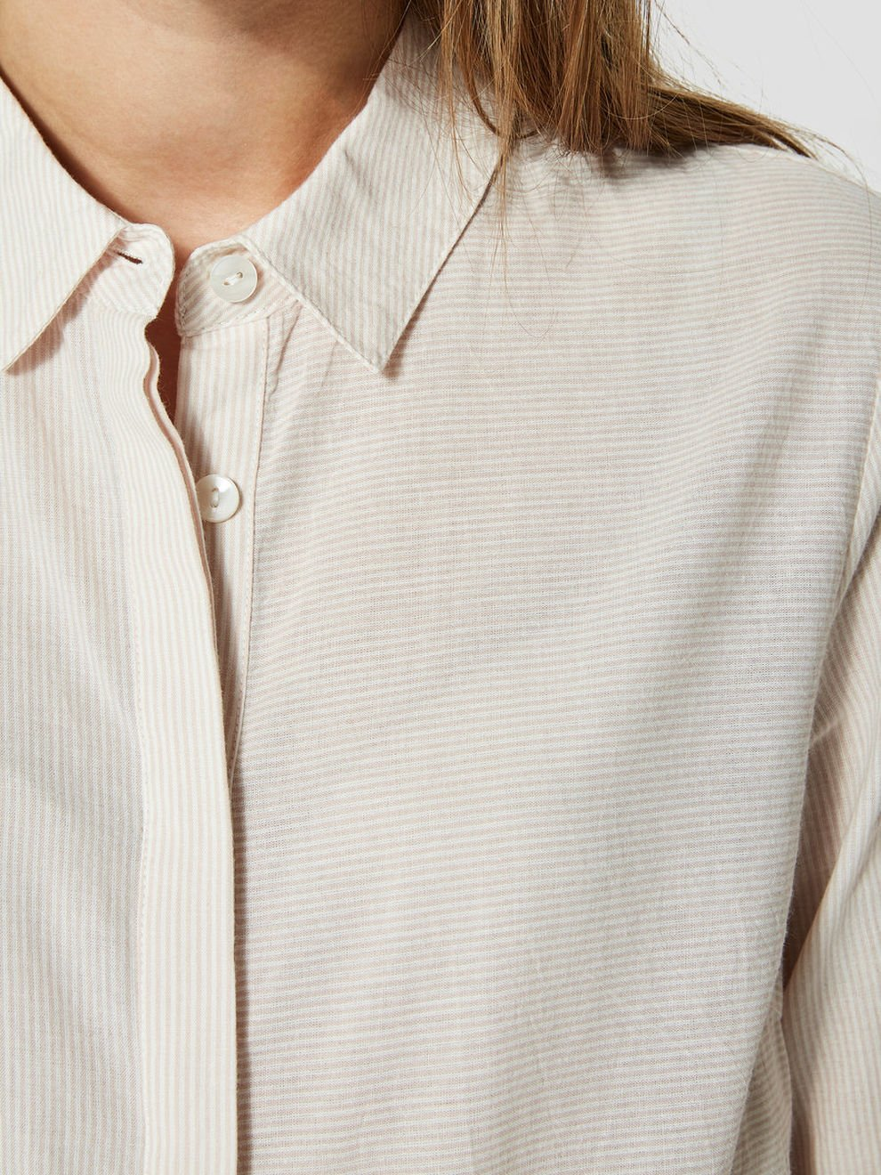 Utvalda damer Slfnoella Ls skjorta Noos blus Mehrfarbig (Sepia Rose Stripes:snow White)