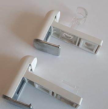 zum klemmen ohne Bohren Klemmträger 1 Paar Halterung  für Gardinenstangen