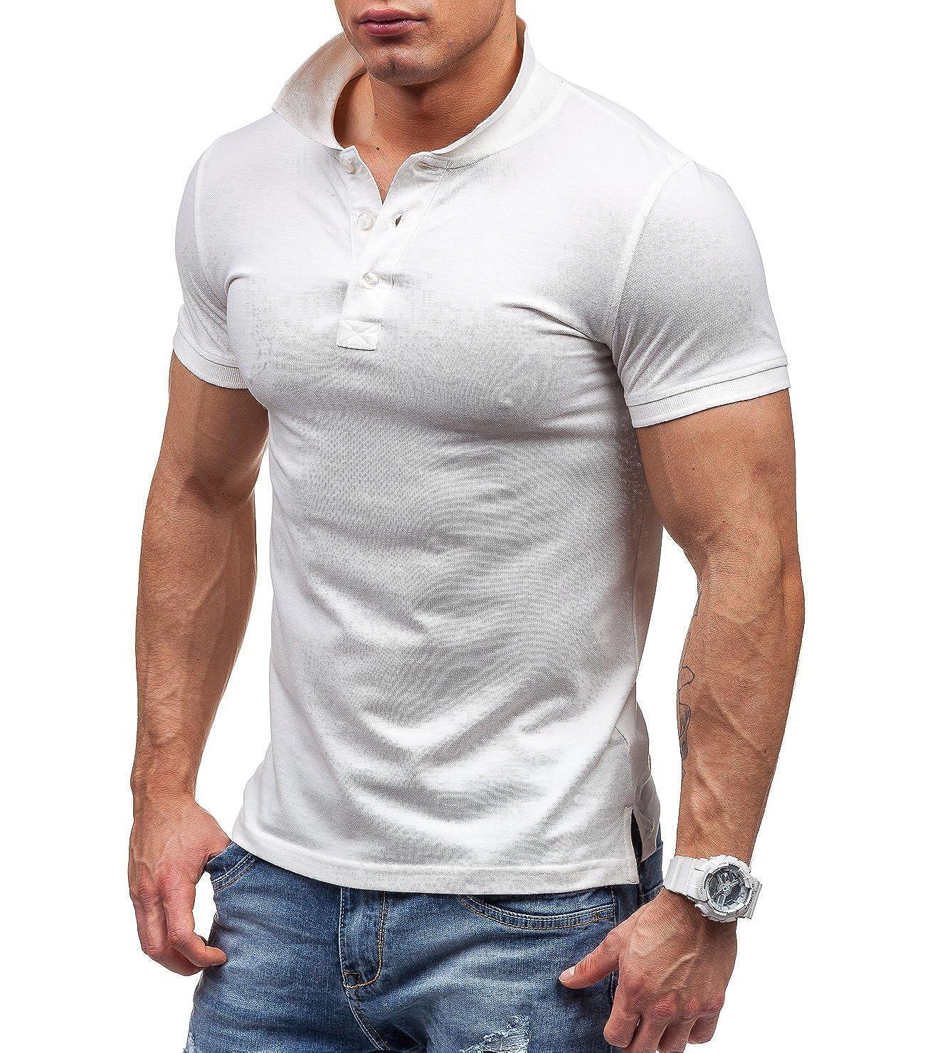 BOLF Polo - para hombre Bianco M: Amazon.es: Ropa y accesorios