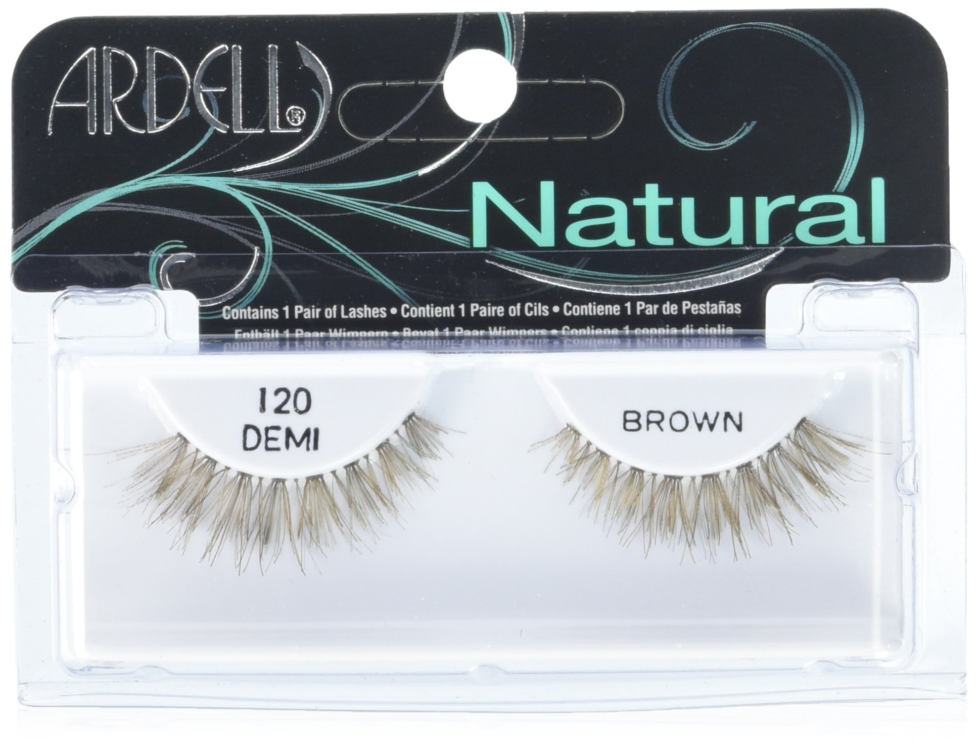 Ardell Fashion Lashes Pair - 120 Demi, Brown (Pack of 4)