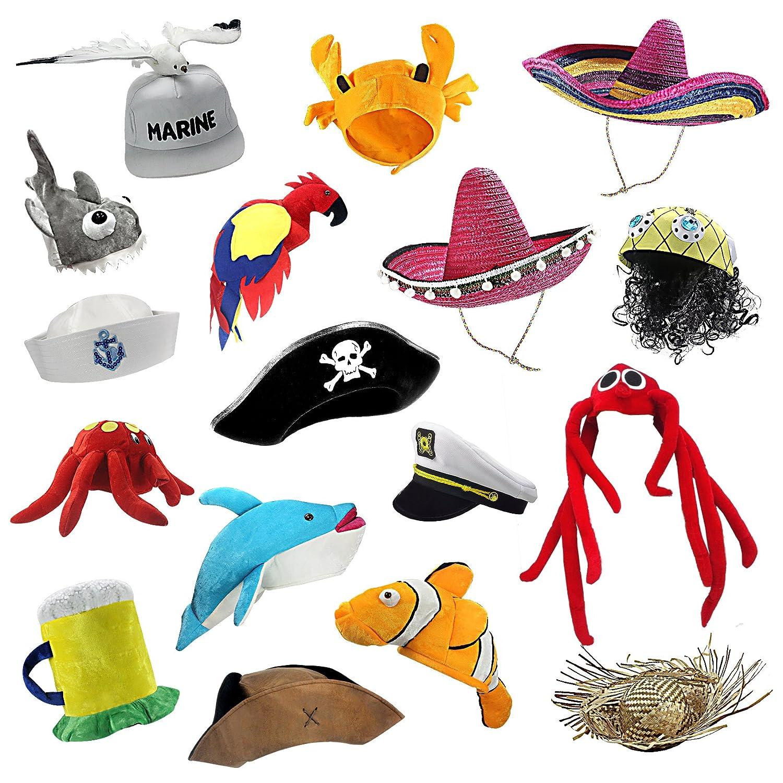 musykrafties 帽子 海のパーティー wd-1974-com 20個セット 20個セット 帽子 海のパーティー B07CQ1HFM9