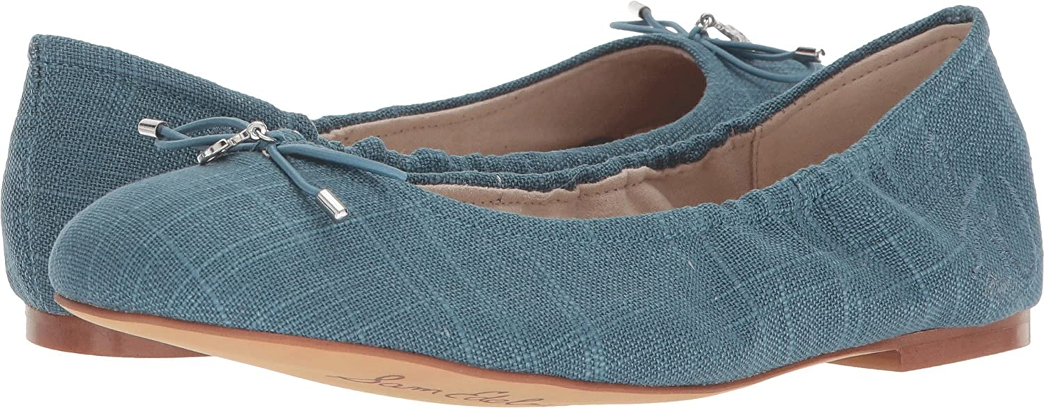 Sam Edelman Women's Felicia Ballet Flat B077MHV84K 7.5 W US|Denim Blue Dress Linen