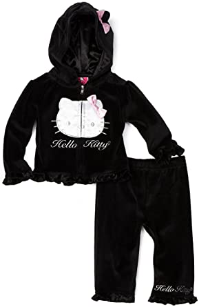 4b823bcd8 Amazon.com: Hello Kitty Baby-Girls Newborn Sweat Suit: Infant And ...