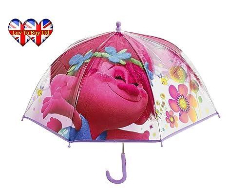 Paraguas para niños con diseño de Amapolas Transparente ...