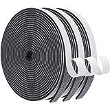 Foam Seal Tape-3 Rolls, 1/2 Inch Wide X 1/8 Inch Thick High Density Foam Strip Self Adhesive Neoprene Rubber Door…