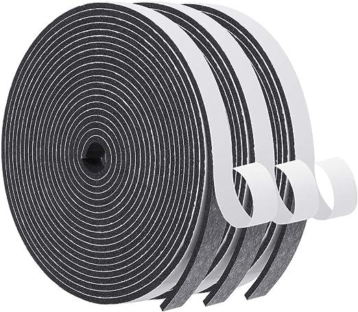 Foam Seal Tape-3 Rolls, 1/2 Inch Wide X 1/8 Inch Thick High Density Foam Strip Self Adhesive Neoprene Rubber Door Weather Stripping Insulation Foam Window Seal Total 50 Feet Long (16.5ft x 3 Rolls): Amazon.com: Industrial & Scientific