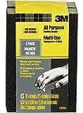 3M 19093 2.625-Inch by 3.75-Inch by 1-Inch Fine/Medium Grit Drywall Sanding Sponge, 2-Pack