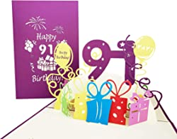 Happy 91st Birthday Pop Up Greeting Card