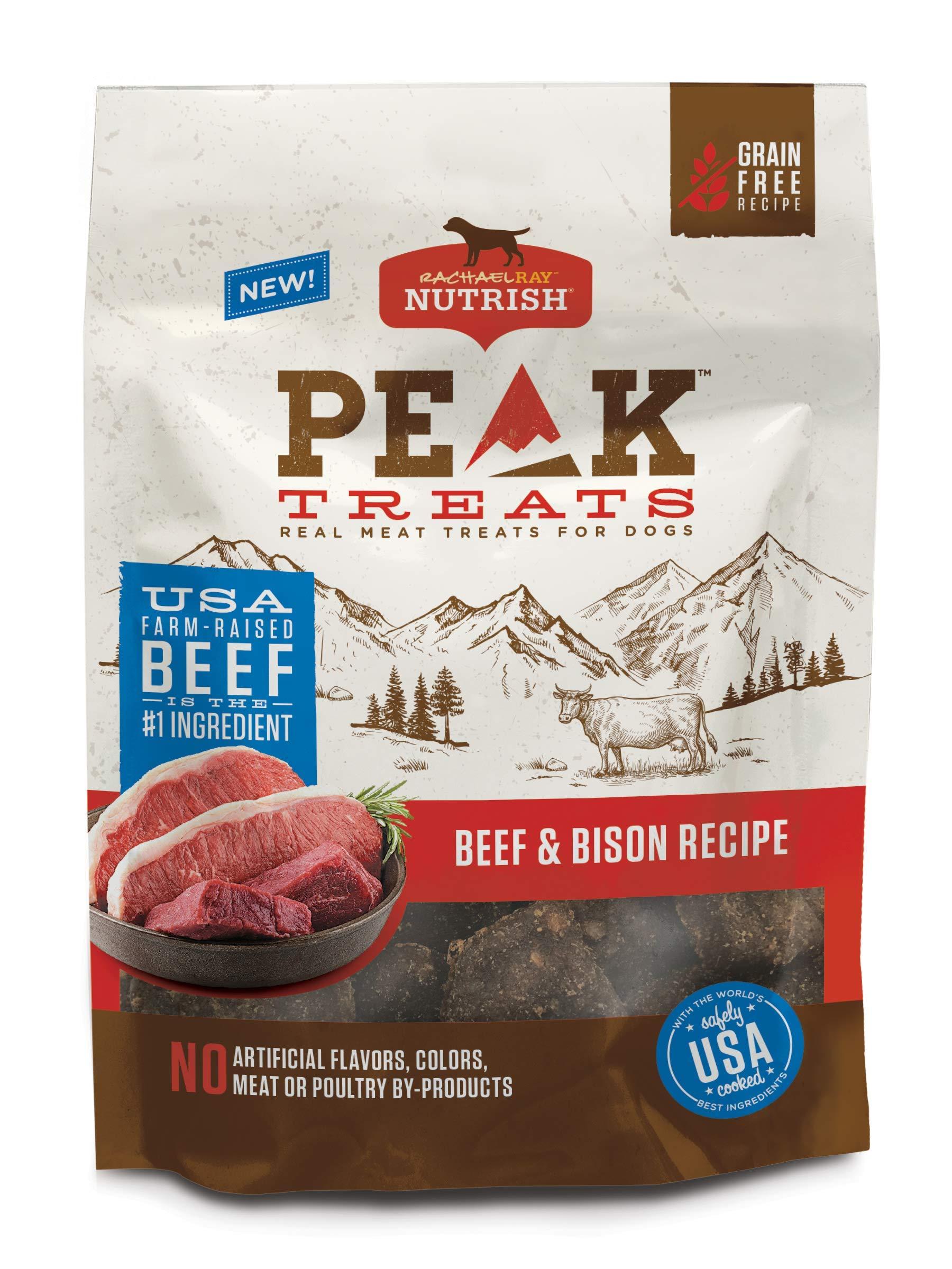 Rachael Ray Nutrish Peak Beef & Bison Recipe Dog Treats, 12 Ounces, Grain Free