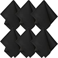 SecurOMax Black Microfiber Cleaning Cloth 6x7 Inch, 6 Pack