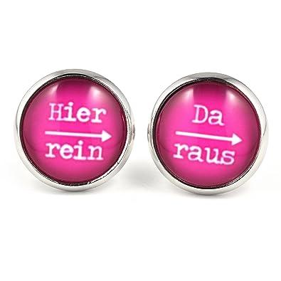 Modeschmuck ohrringe pink  SCHMUCKZUCKER Damen Ohrstecker