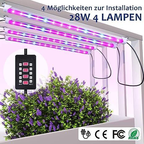 Mixc LED plantas Luz, diseño de rayas rojas azul Grow Light ...