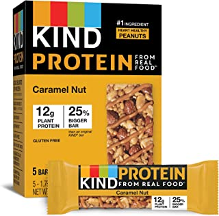 product image for KIND Protein Bars, Caramel Nut, Gluten Free, 12g Protein,1.76 Ounce, 20 count