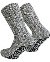 Tobeni 3 Pair ABS Stopper Norwegian Socks with Sheep Wool for Women and Men Colour Multicoloured Size EU 47-50 / UK 12-15