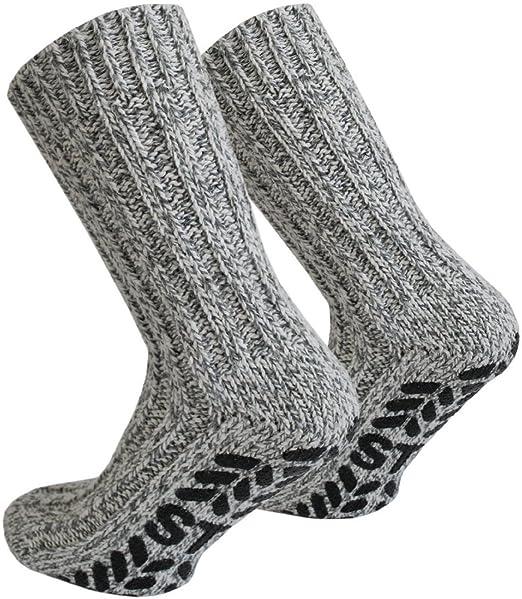 Tobeni 3 Pares de Tapones ABS con Calcetines Noruegos con Lana de Oveja para Mujer y Hombre Color Multicolor Talla 35-38: Amazon.es: Ropa y accesorios