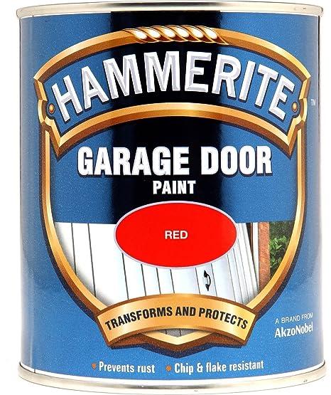 Hammerite 5092852 750ml Garage Door Paint Red Amazon Diy