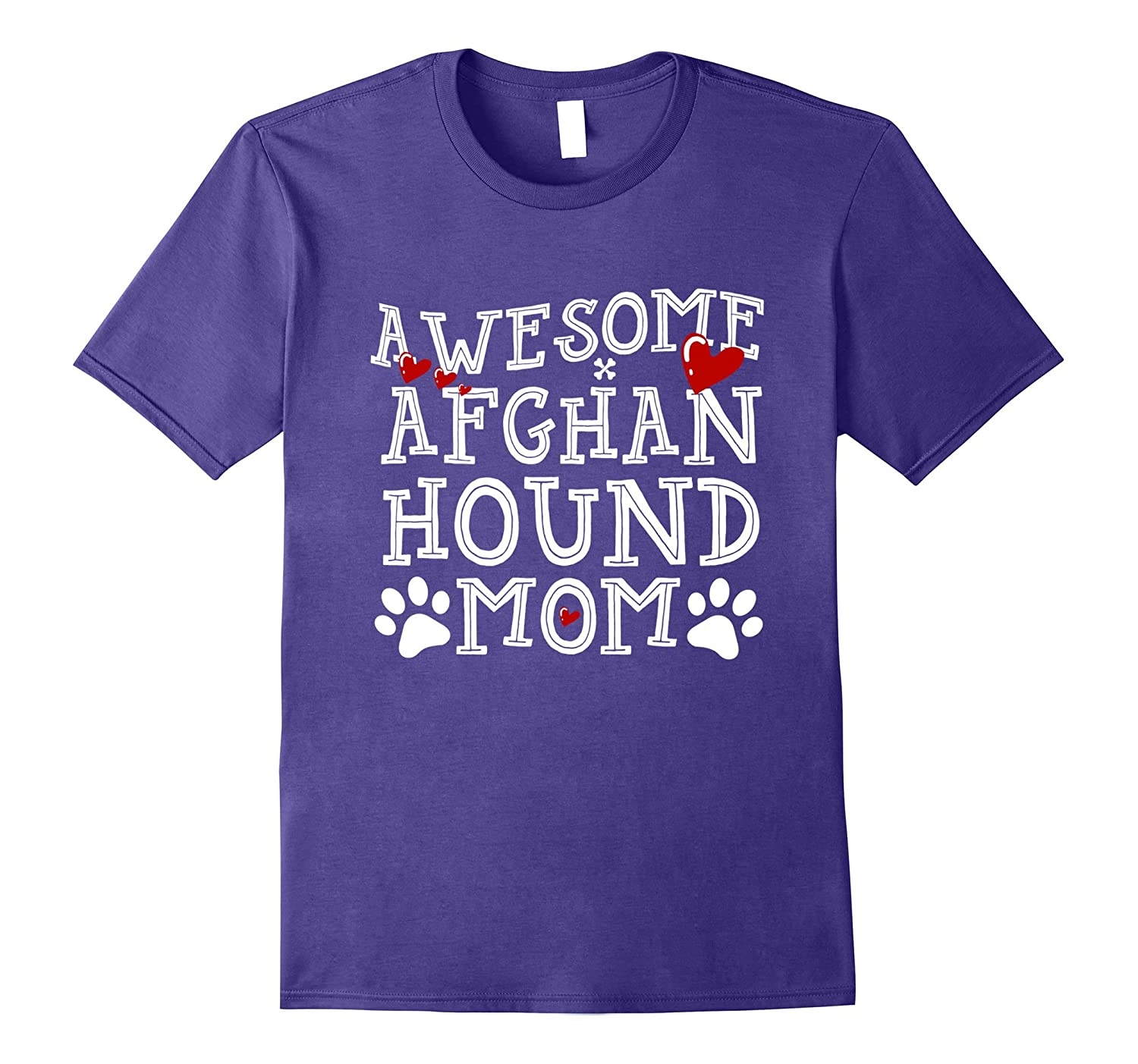 Awesome Dog Mom Afghan Hound T Shirt-Art