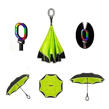 0f5b2cc52ba97 Multibrella All-In-One Smart Umbrella,Drip Free Reflective SOS LED Safety  Car