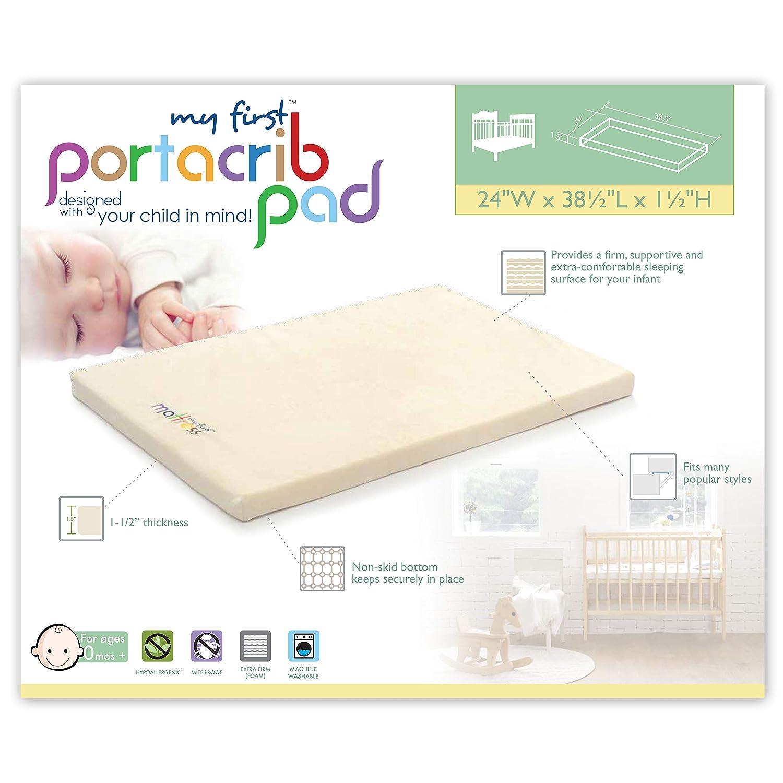 My First Pack N Play Mattress Pad or Mini Crib Pad 37 x 26 x 1-1//2