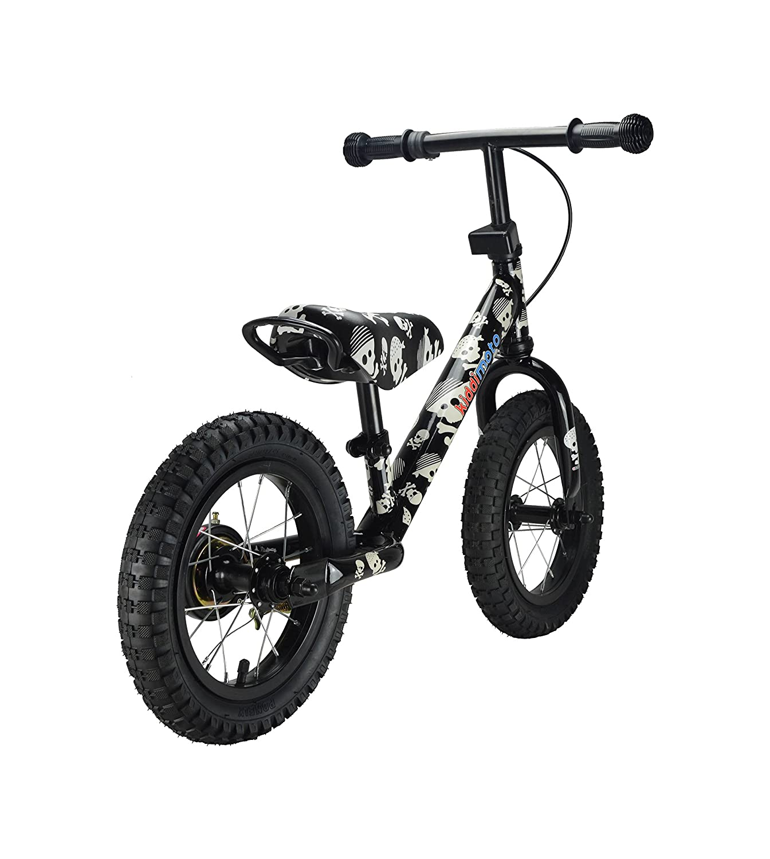 Skullz Black Kiddimoto SJM6 Super Junior Max Balance Bike