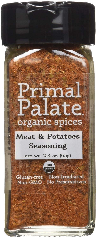 Primal Palate Organic Spices Meat & Potatoes Seasoning, Certified Organic, 2.3 oz Bottle