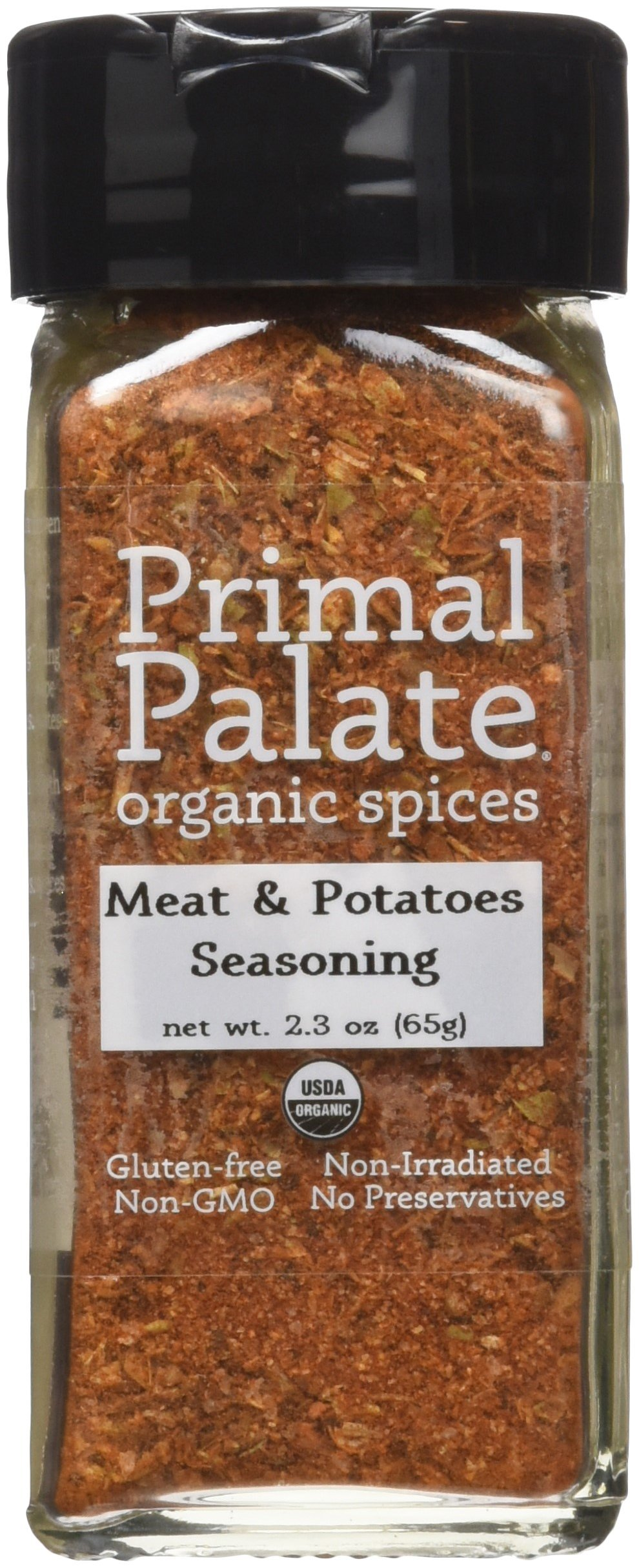 Primal Palate Organic Spices Meat & Potatoes Seasoning, Certified Organic, 2.3 oz Bottle