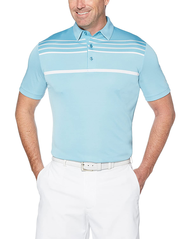 Callaway OPTI-dri Blocked Short Sleeve Golf Polo, Delphinium Blue ...