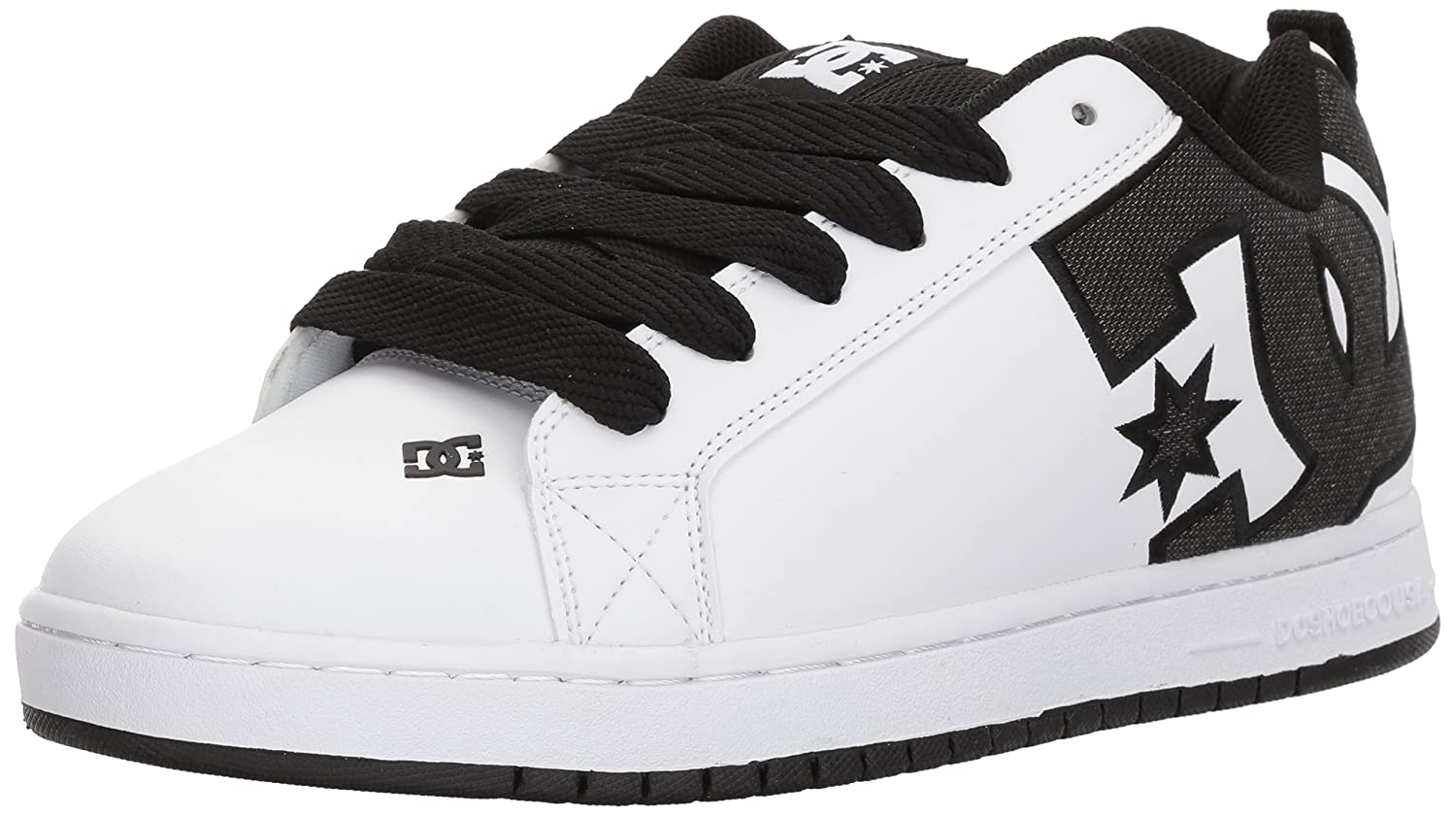 DC Men's Court Graffik SE Skateboarding Shoe 17 D(M) US|Black/White/White