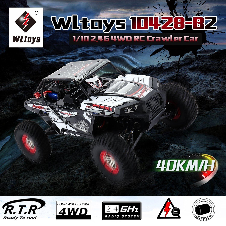 Dailyinshop WLtoys 10428-B 1//10 4WD 30 km h RC Raupen Climbing Off-Road Truck RC Car