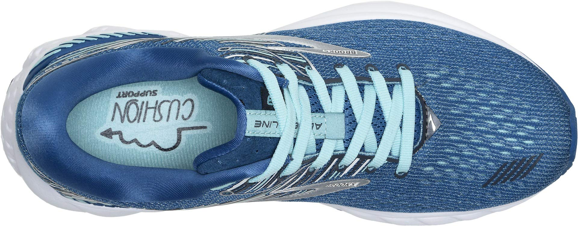 Brooks Women's Adrenaline GTS 19 Blue/Aqua/Ebony 5 B US by Brooks (Image #2)