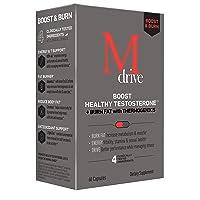 Mdrive Boost and Burn for Men, Zinc, KSM-66 Ashwagandha, Cordyceps, Advantra Z,...