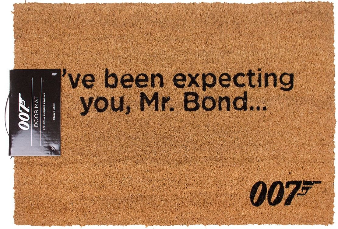 James Bond Official I've Been Expecting You Door Mat