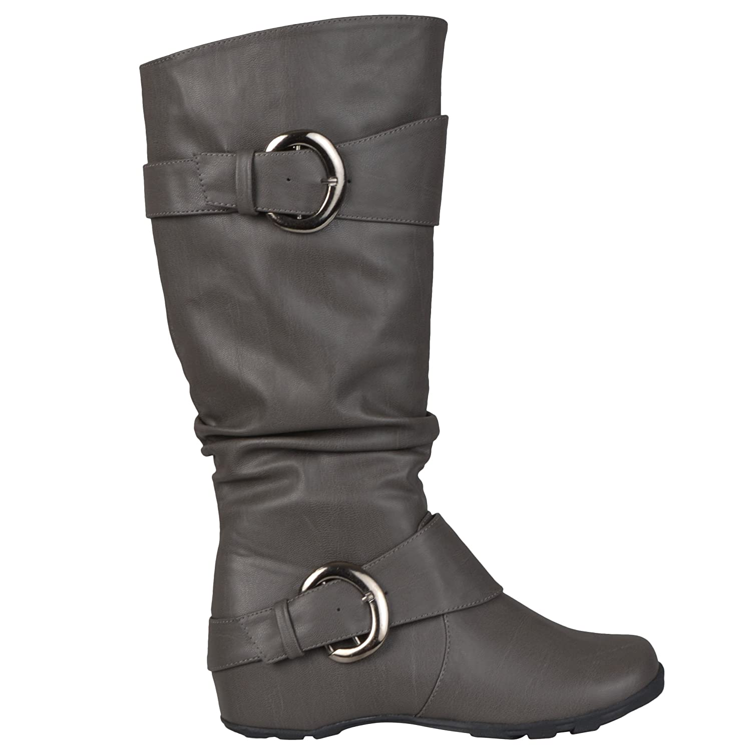 9b60bfd26cd Amazon.com | Journee Collection Womens Extra Wide Calf Slouch Buckle Knee  High Boots | Knee-High
