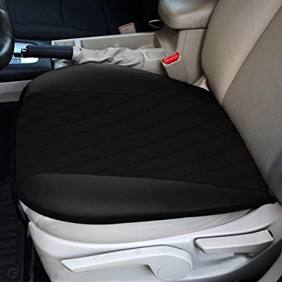 FH Group FB210BLACK102 Faux Leather and NeoSupreme Car Seat Cushion Pad with Front Pocket: Automotive