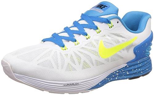 129b9e02afec5 Nike Men s Lunarglide 6 White Running Shoes -10 UK India (45 EU)(11 ...
