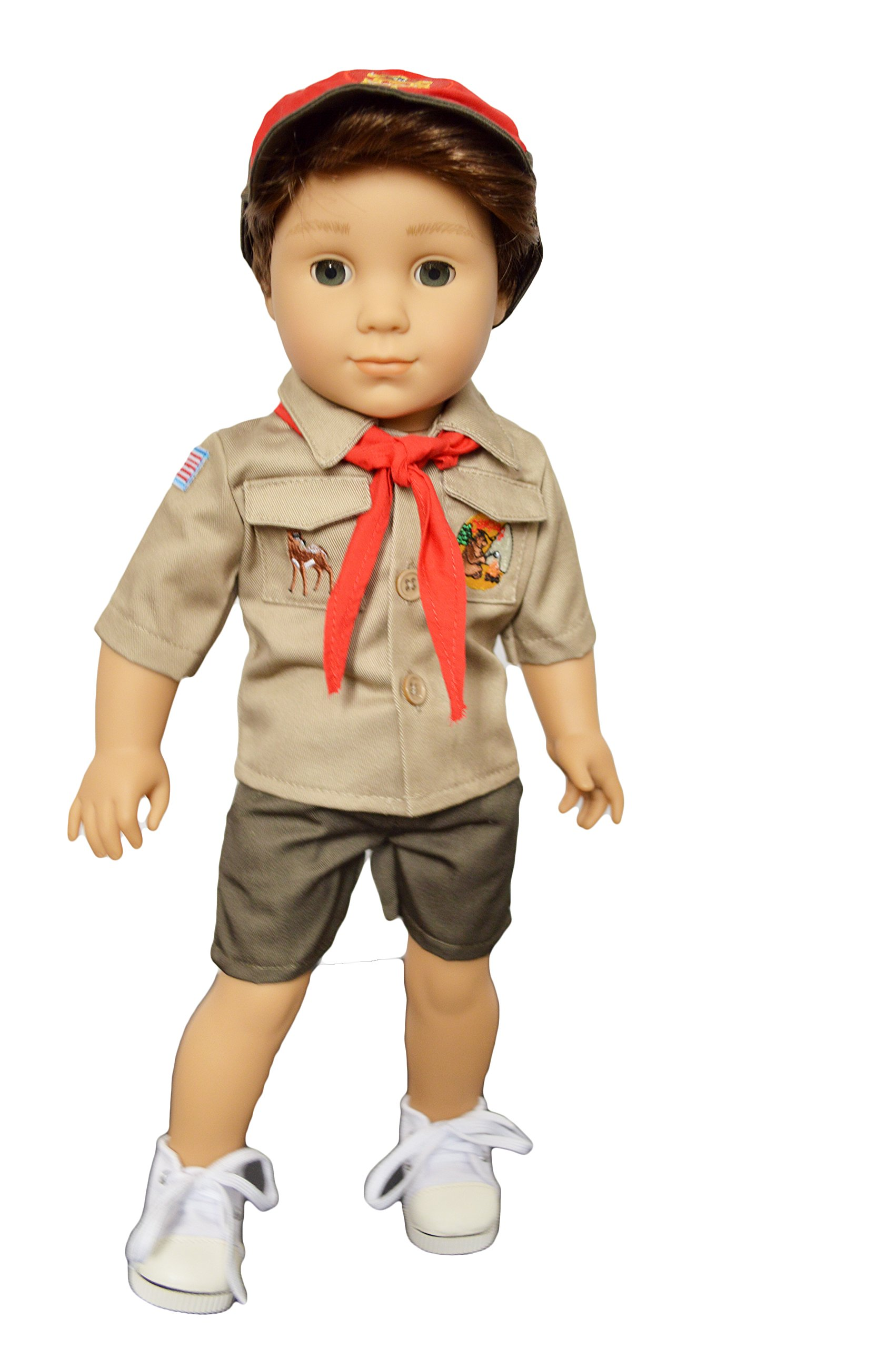 Brittany's My Scouts Uniform with Embroidered Patches Compatible with American Girl Boy Dolls- 18 Inch Boy Doll Clothes by Brittany's
