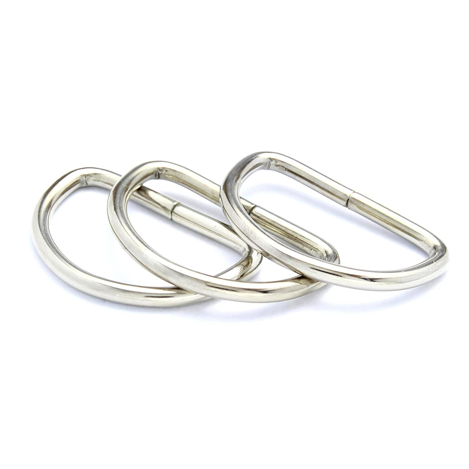10mm Metal D-Rings Buckles for Webbing Strap Tape, Bags and Purse Handles (10) Sola