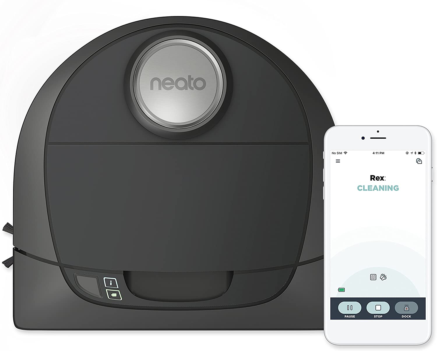 Neato Botvac D5 Connected Laser Guided Robot Vacuum, Pet & Allergy, Works with Smartphones, Alexa, Smartwatches