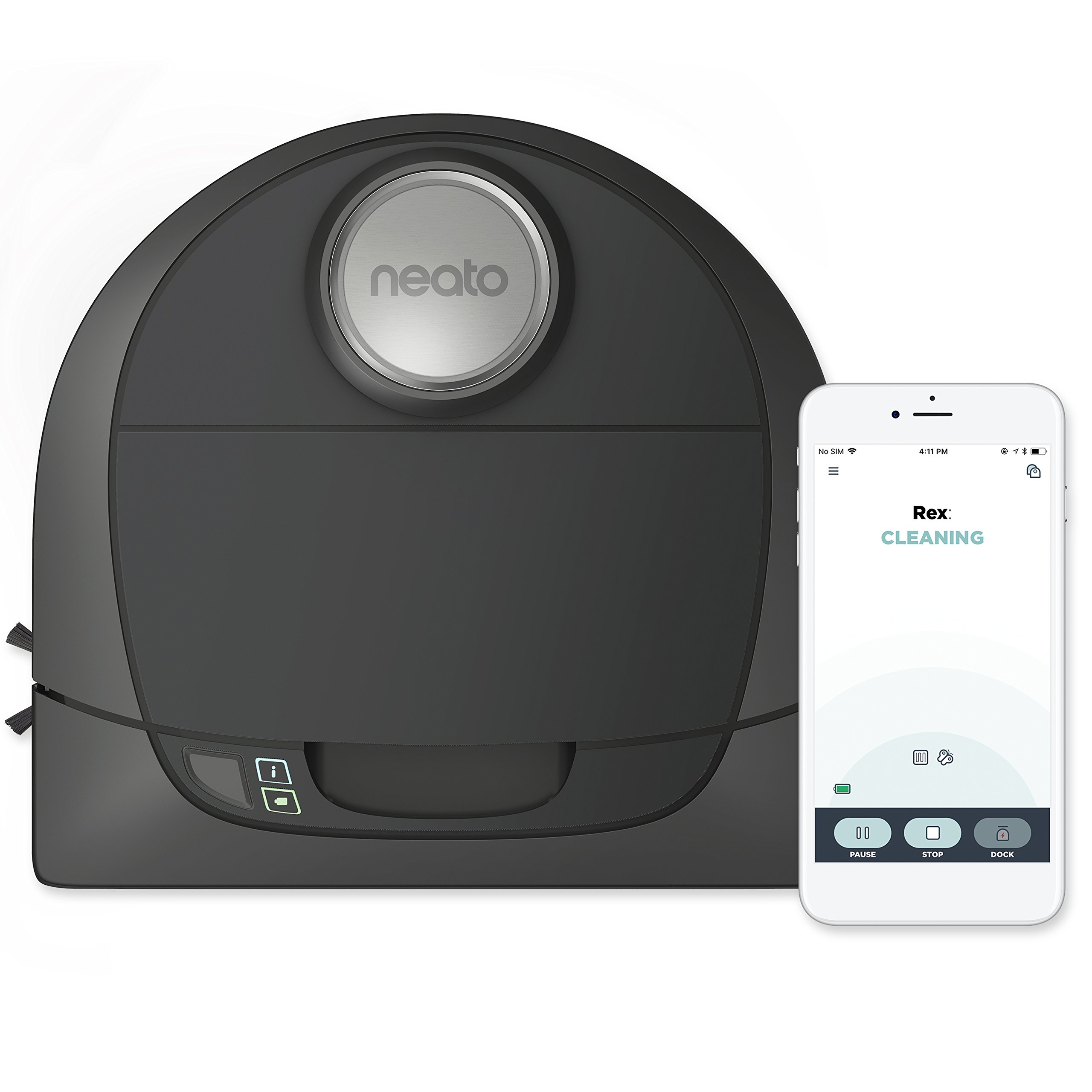 Neato Botvac D5 Connected Laser Guided Robot Vacuum, Pet & Allergy, Works with Smartphones, Alexa, Smartwatches by Neato Robotics
