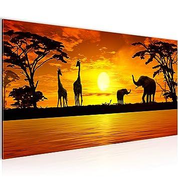 Bilder Afrika Sonnenuntergang Wandbild Vlies Leinwand Bild Xxl Format Wandbilder Wohnzimmer Wohnung Deko Kunstdrucke Orang 1 Teilig Made In