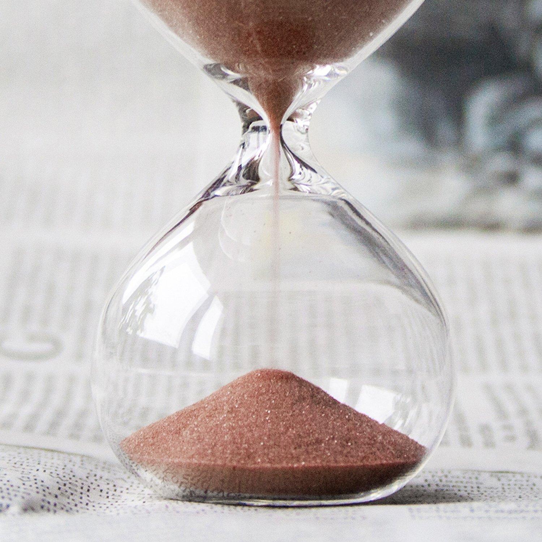 cacao couleur sable biloba 4,8 pouces puff sand minuteur//sablier 30 minutes office de d/¨/¦cor bureau inspir/¨/¦ du verre//maison