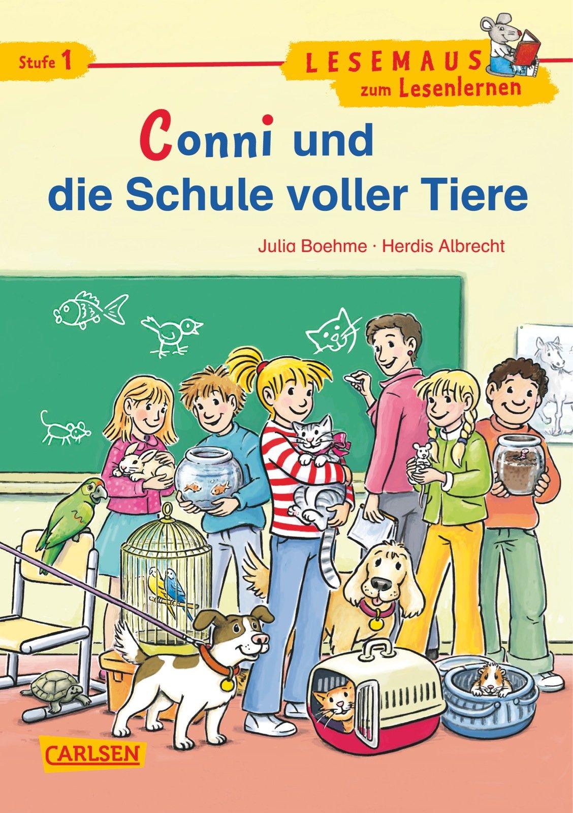 LESEMAUS zum Lesenlernen Stufe 1: Conni und die Schule voller Tiere