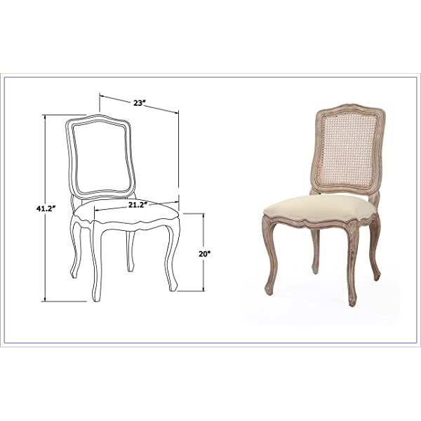 East At Main Archer Brown Sungkai Wood and Rattan Dining Chair, (21.2x23x41.2)