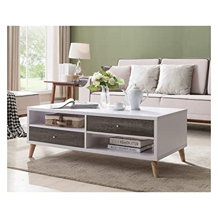 Pleasing Amazon Com Weller Transitional Two Drawers Coffee Table Machost Co Dining Chair Design Ideas Machostcouk