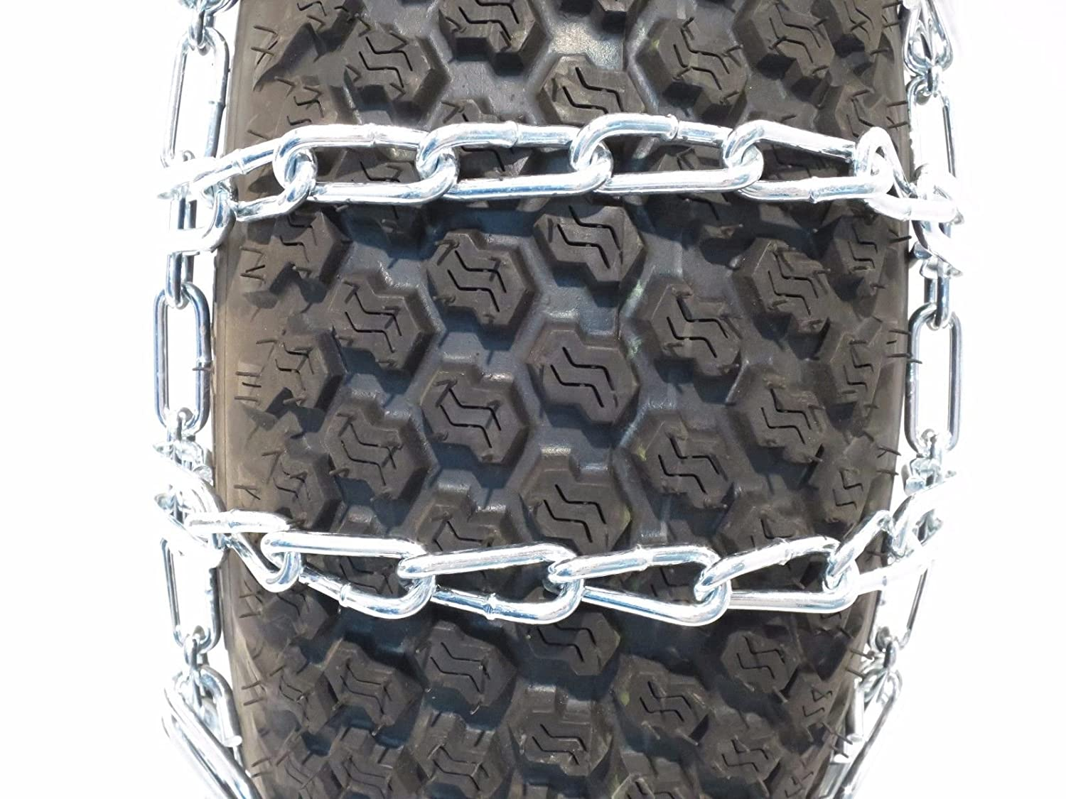 The ROP Shop New Pair 2 Link TIRE Chains 18x8.5x10 fits Many Honda MUV Pioneer UTV Vehicle 5558999420