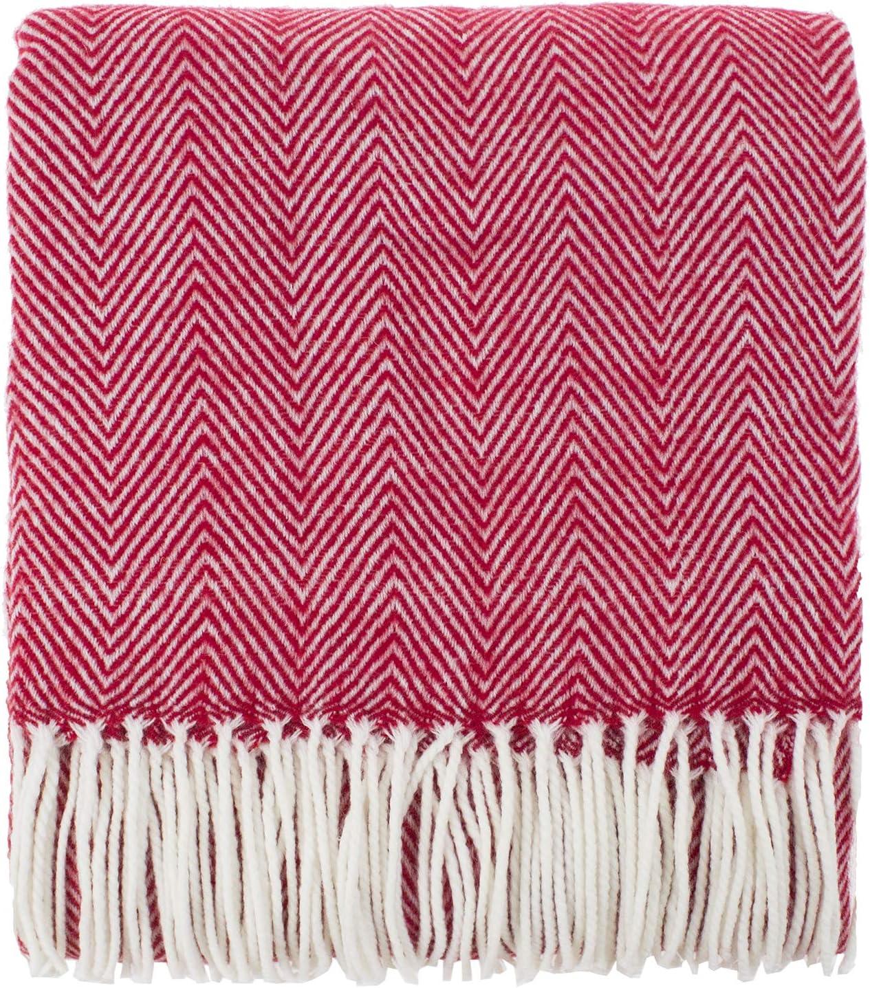 Adore Home Herringbone 100/% Cotton Fringed Throw Black//Natural 175x250cm