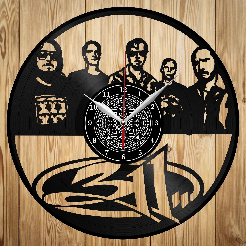 Vinyl Clock - 311 Band - Exclusive Custom Vinyl Record Clock - Сraft Wall Clock - Home Decor - Original Gift Idea - Black Clock 12